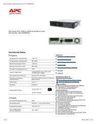 Technische Daten - Kastl GmbH