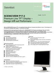SCENICVIEW P17-2 Premium Line TFT Display ... - Kastl GmbH
