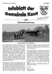 Infoblatt der Gemeinde Kastl Juni 2013
