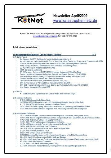dieses Newsletters - Katastrophennetz e.V.