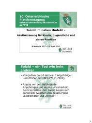 Suizid im nahen Umfeld - Katastrophenschutz Steiermark