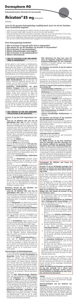 Acicutan® 25 mghartkapseln - Dermapharm AG