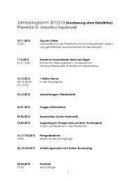 Jahresprogramm 2012/2013