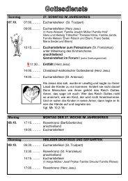 Gottesdienste der Seelsorgeeinheit als pdf - Katholisches Dekanat ...