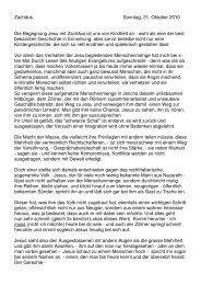 Predigt 31.10.10, Zachäus, Pfr. Stephan Guggenbühl