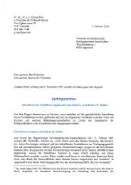 Rechtsgutachten Dr. Giusep Nay, Februar 2012 - Katholische ...