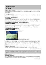 Forum 3, 26. Januar - 16. Februar 2013 - Kath-FrauenfeldPLUS