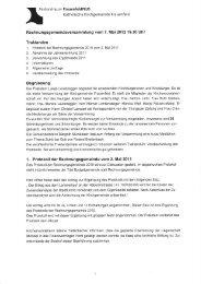 Rechnungsgemeindeversammlung vom 7. Mai 201219.30 Uhr ...