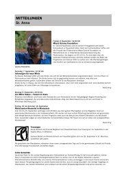 Forum 17, 31. August - 14. September 2013 - Kath-FrauenfeldPLUS