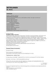 Forum 15, 27. Juli - 17. August 2013 - Kath-FrauenfeldPLUS