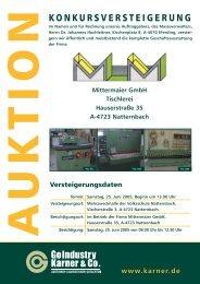 073 • Mittermaier GmbH, Hauserstraße 35 A-4723 Natternbach