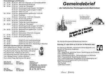 Gemeindebrief - Kath. Kirche Bad Arolsen