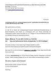 Datum: Mittwoch, 19. Juni 2013, 9:30 bis ca. 16:30 Uhr Ort: Haus der ...