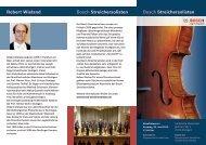 Bosch Streichersolisten Bosch Streichersolisten ... - Hospiz St. Martin