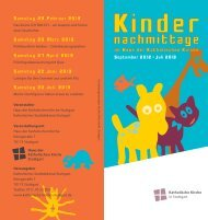 Programm - Katholische Kirche Stuttgart