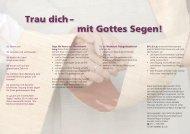 Trau dich - mit Gottes Segen! - Katholische Kirche Stuttgart