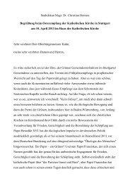 Stadtdekan Msgr. Dr. Christian Hermes Begrüßung beim ...