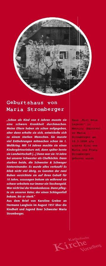 Roll-Ups Maria Stromberger - Katholische Kirche Vorarlberg