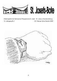 14. Jahrgang Nr.1 03. Februar Anno Domini 2008 - Katholische ...