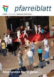 Pfarreiblatt 1/2013 - Katholische Kirchgemeinde Kriens