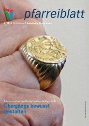 Pfarreiblatt 8/2013 - Katholische Kirchgemeinde Kriens