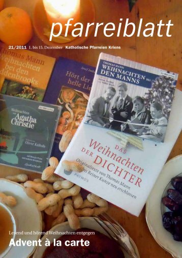 Pfarreiblatt 21/2011 - Katholische Kirchgemeinde Kriens