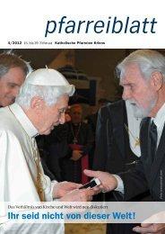 Pfarreiblatt 4/2012 - Katholische Kirchgemeinde Kriens