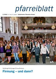 Pfarreiblatt 2/2012 - Katholische Kirchgemeinde Kriens