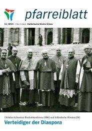Pfarreiblatt 11/2013 - Katholische Kirchgemeinde Kriens