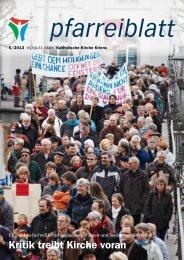 Pfarreiblatt 6/2013 - Katholische Kirchgemeinde Kriens