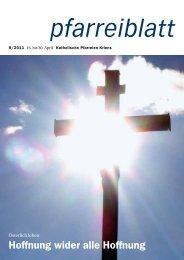 Pfarreiblatt 08/2011 - Katholische Kirchgemeinde Kriens