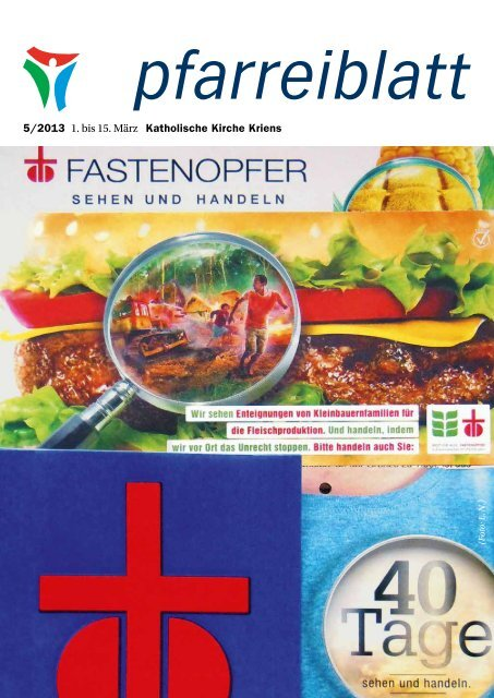 Pfarreiblatt 5/2013 - Katholische Kirchgemeinde Kriens