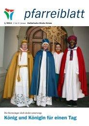 Pfarreiblatt 1/2014 - Katholische Kirche Kriens