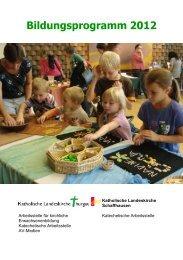 Bildungsprogramm 2012 - Katholische Kirche im Thurgau
