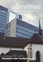 Pfarreiblatt 07/2011 - Katholische Kirchgemeinde Kriens