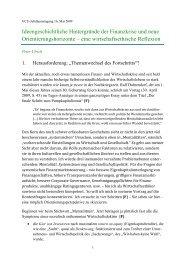 Ideengeschichtliche Hintergründe der Finanzkrise und neue ...
