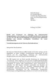 Umsetzung von Art. 123 a BV über die lebenslängliche Verwahrung ...