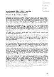 Weitere Informationen (pdf) - Kath.ch