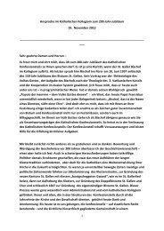 Ansprache des Bischofs im Wortlaut (pdf) - Kath.ch