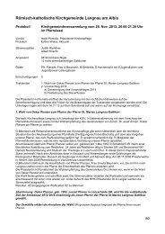 Protokoll der Kirchgemeindeversammlung vom 28.11.2013