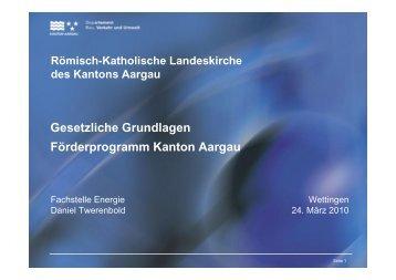 Daniel Twerenbold - Römisch-Katholische Kirche im Kanton Aargau