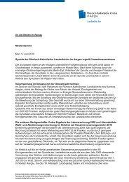 Medienbericht vom 9. Juni 2010 - Römisch-Katholische Kirche im ...