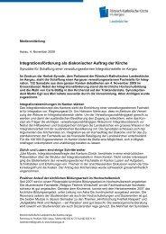 Integrationsförderung als diakonischer Auftrag der Kirche - Römisch ...
