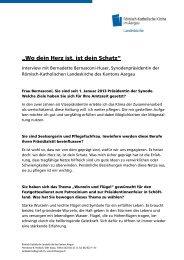 Interview (PDF) - Römisch-Katholische Kirche im Kanton Aargau