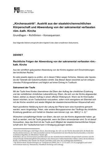 """""""Kirchenaustritt"""". Austritt aus der staatskirchenrechtlichen ..."""