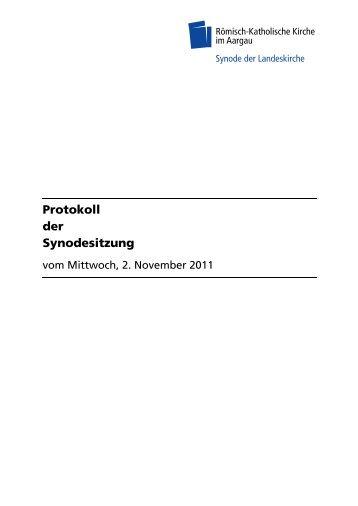 Protokoll der Synodesitzung - Römisch-Katholische Kirche im ...