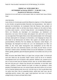Pastor Dr. Thies Gundlach, Heimhuder Str. 92, 20148 Hamburg, Tel ...