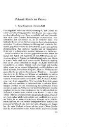 Polemik Kleists im Phöbus - von Katharina Mommsen