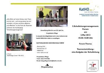 3.Schulleitungsmanagement- Forum am 3.Mai 2013 10:30-15:00 Uhr ...