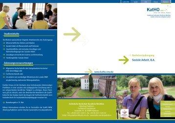 Soziale Arbeit, B.A. - Katholische Hochschule Nordrhein-Westfalen